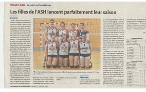 VOLLEY BALL Article La Presse de la Manche du 22/10/2019